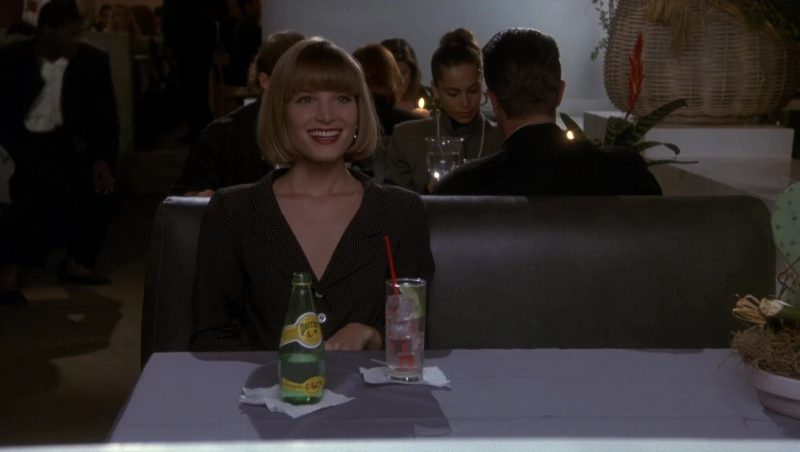 Perrier Mineral Water and Bridget Fonda in Doc Hollywood (1991) Movie Product Placement