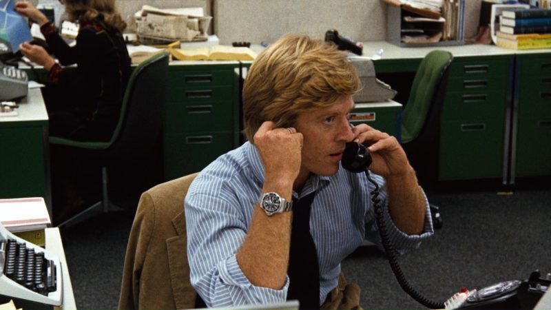 Rolex Submariner Watch Worn by Robert Redford in All the President's Men (1976) Movie Product Placement