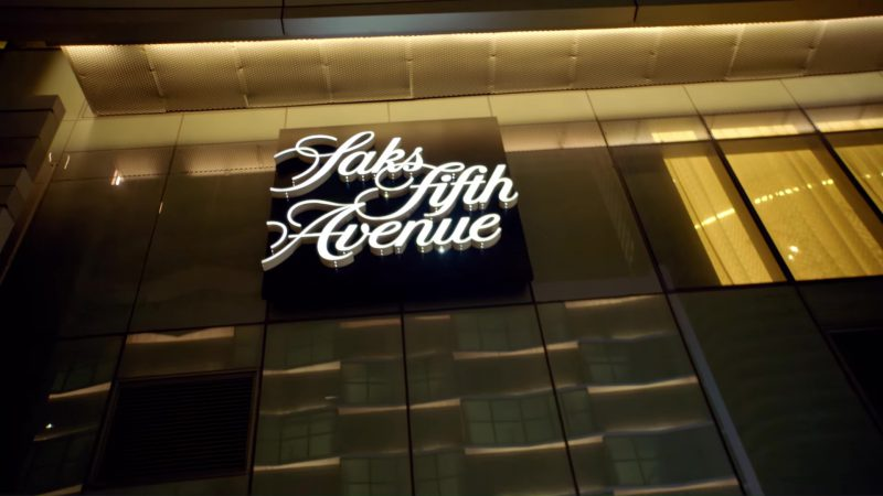 Saks Fifth Avenue Store in God's Plan by Drake (2018) Official Music Video Product Placement