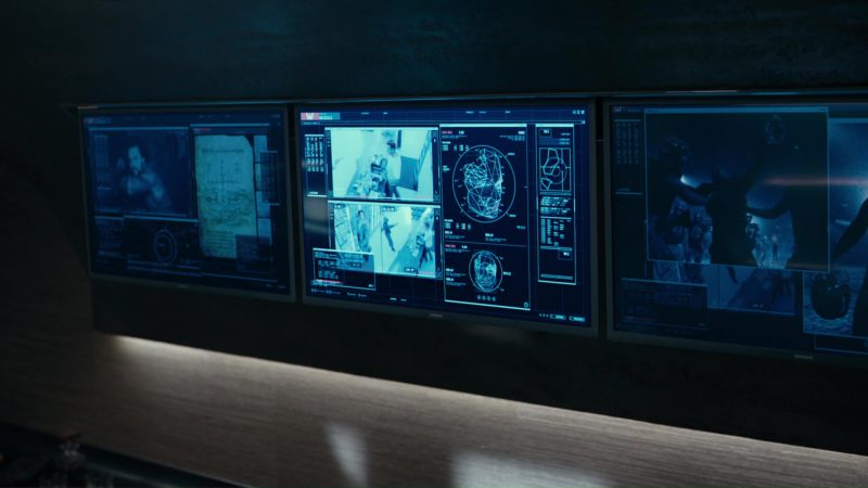 Samsung TV's in Justice League (2017) Movie Product Placement