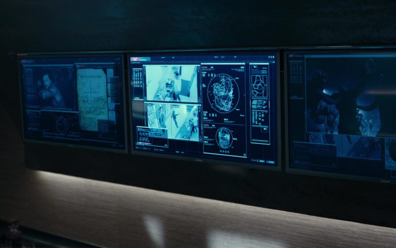 Samsung TV in Justice League