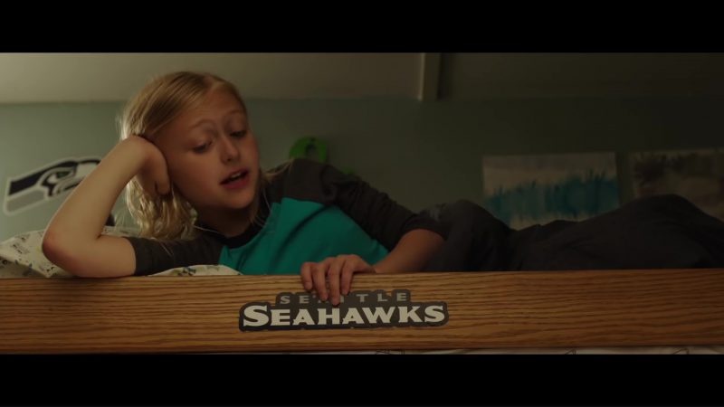 Seattle Seahawks Sticker in Overboard (2018) Movie Product Placement