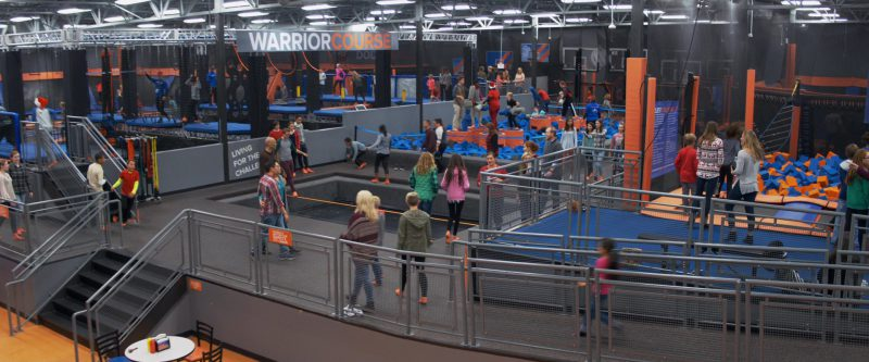 Sky Zone Trampoline Park in A Bad Moms Christmas (2017) Movie Product Placement