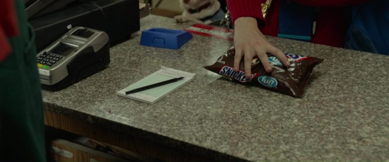 Snickers Chocolate Bars in Please Stand By (2017) Movie Product Placement