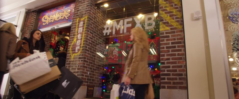 Sorel Footwear Paper Bag Used by Mila Kunis in A Bad Moms Christmas (2017) Movie Product Placement