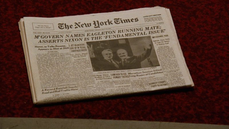 The New York Times Newspaper in All the President's Men (1976) Movie Product Placement