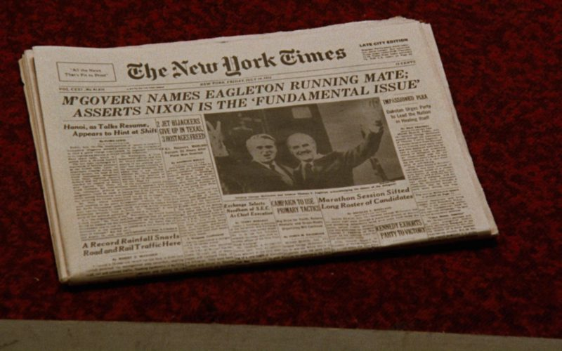 The New York Times Newspaper in All the President's Men