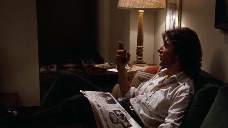 The Washington Post Newspaper and Dustin Hoffman in All the President's Men (1976) Movie Product Placement