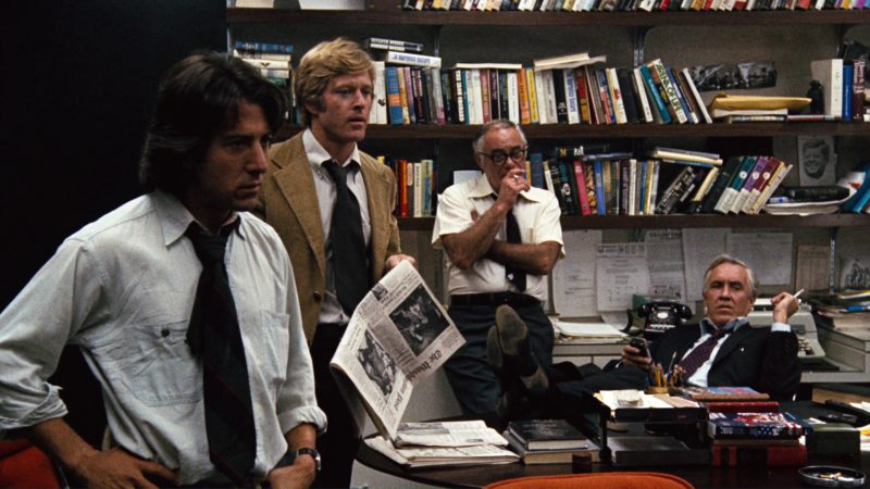 The Washington Post Newspaper and Robert Redford in All the President's Men (1976) Movie Product Placement