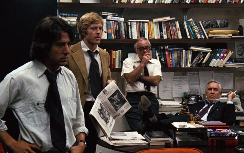 The Washington Post Newspaper and Robert Redford in All the President's Men