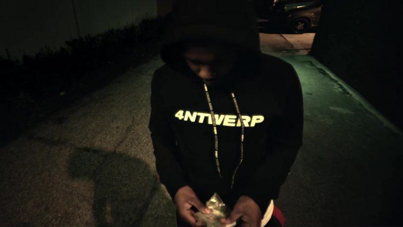 Vier Antwerp Hoodie Worn by Kendrick Lamar in King's Dead by Jay Rock, Kendrick Lamar, Future, James Blake (2018) Official Music Video Product Placement