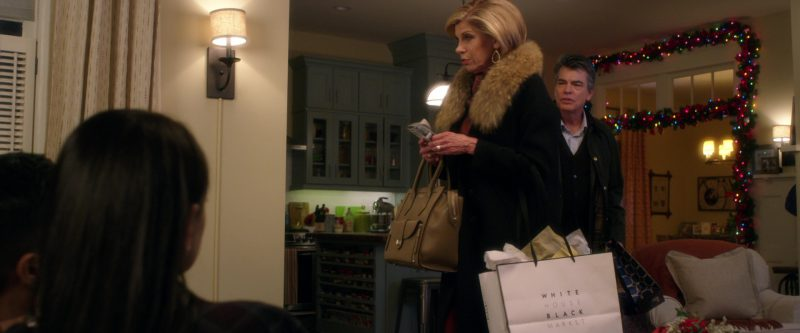 WHBM (White House Black Market) Paper Bag Used by Christine Baranski in A Bad Moms Christmas (2017) Movie Product Placement