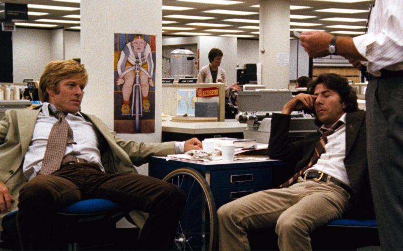 Washington Redskins Stickers in All the President's Men (2)