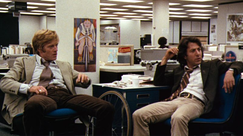 Washington Redskins Stickers in All the President's Men (1976) Movie Product Placement