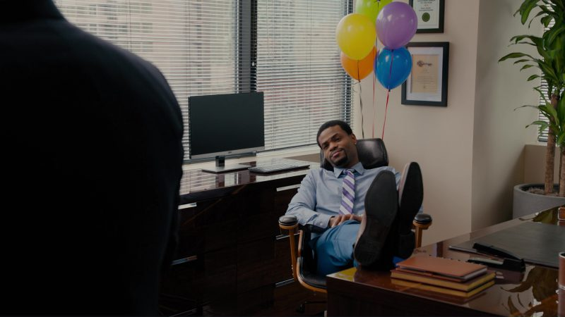 AOC Monitor Used by King Bach in When We First Met (2018) - Movie Product Placement