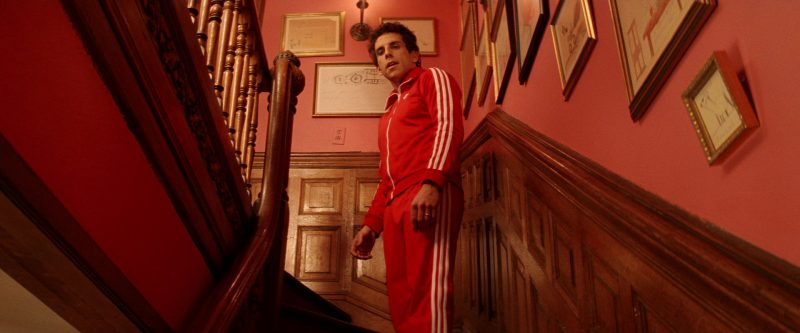 Adidas Tracksuit (Red) and Puma Sneakers Worn by Ben Stiller in The Royal Tenenbaums (2001) - Movie Product Placement