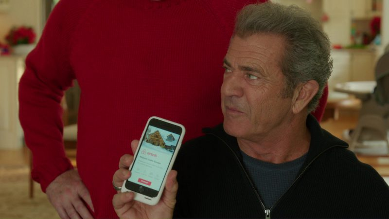 Airbnb App Used by Mel Gibson in Daddy's Home 2 (2017) Movie Product Placement