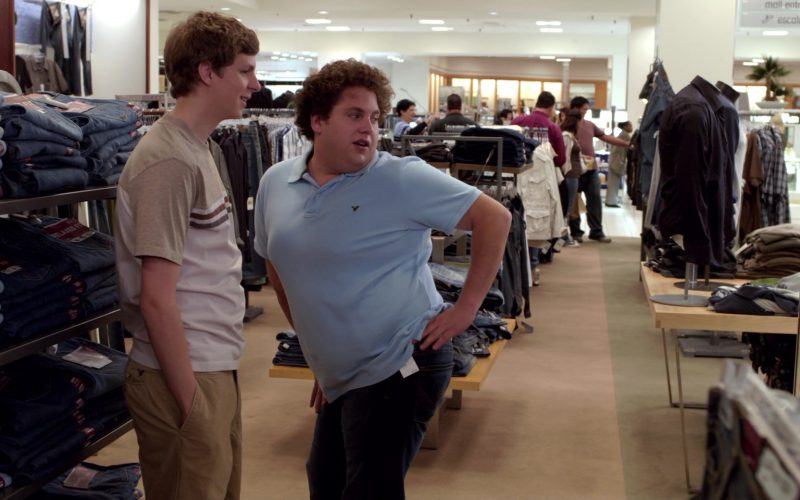 American Eagle Outfitters Blue Polo Shirt Worn by Jonah Hill in Superbad (4)