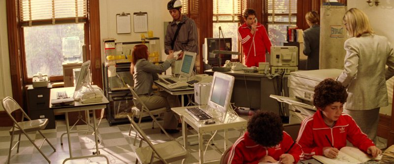 Apple Computers, Everlast Punching Bag and Adidas Tracksuits in The Royal Tenenbaums (2001) Movie Product Placement