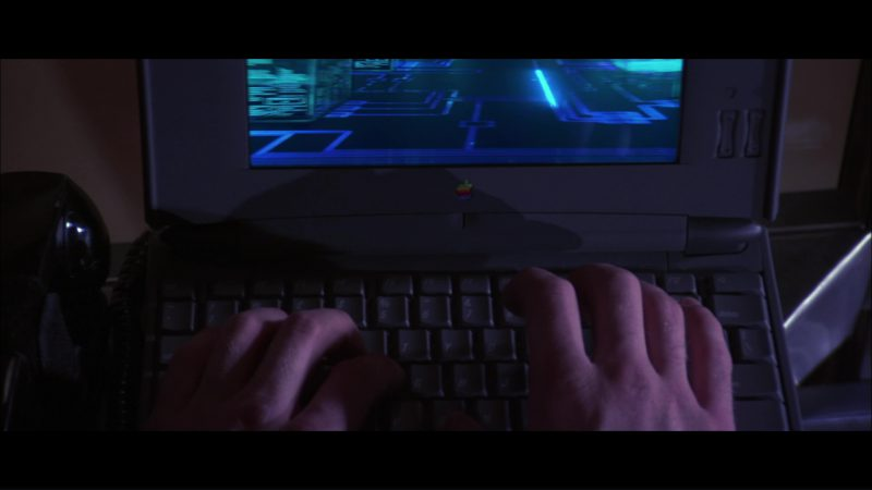 Apple Macintosh PowerBook Duo Laptop in Hackers (1995) - Movie Product Placement