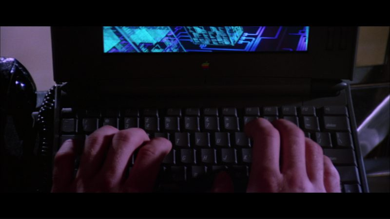 Apple Macintosh PowerBook Duo Laptop in Hackers (1995) Movie Product Placement