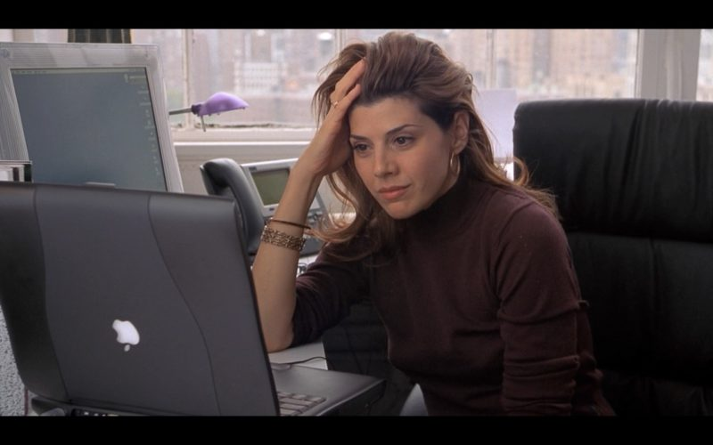 Apple Monitor and PowerBook Laptop Used by Marisa Tomei in Someone Like You… (2001) Movie Product Placement
