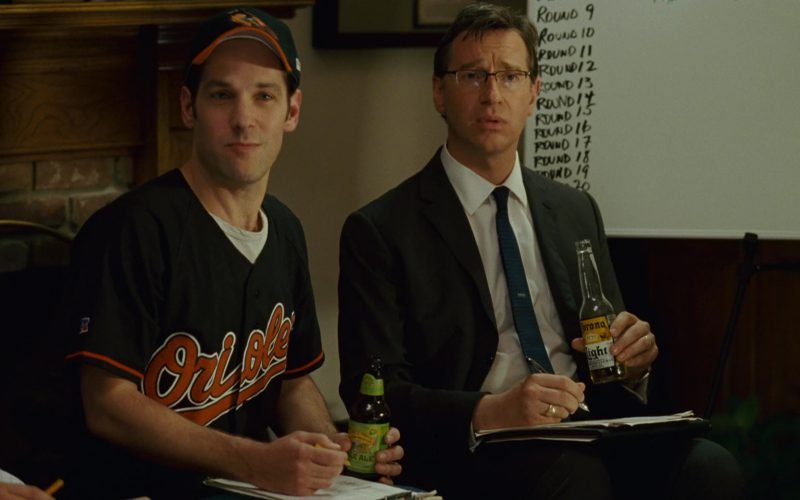 Baltimore Orioles T-Shirt and Cap Worn by Paul Rudd, Sierra Nevada Pale Ale, Corona Light Beer (1)