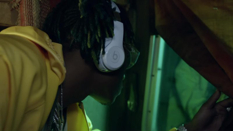 Beats White Wireless Headphones Used by Rich The Kid in Plug Walk (2018) - Official Music Video Product Placement