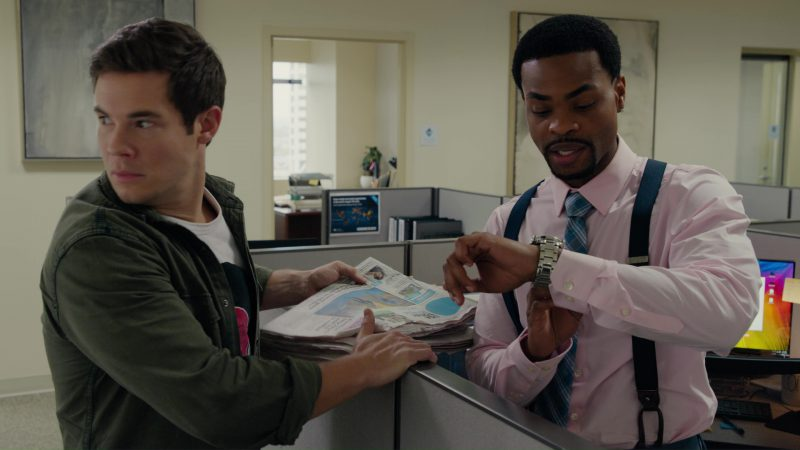 Breitling Men's Watch Used by King Bach in When We First Met (2018) - Movie Product Placement