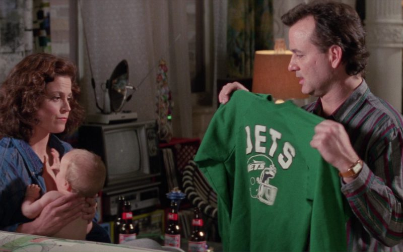 Bud Beer and Jets Green T-Shirt in Ghostbusters 2