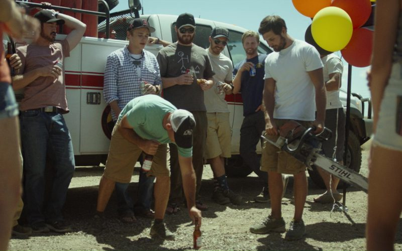 Budweiser Bottle and Stihl Chainsaw in Only the Brave (1)