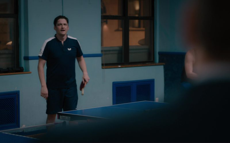 Butterfly Table Tennis Polo Shirt Worn by Toby Leonard Moore in Billions (1)