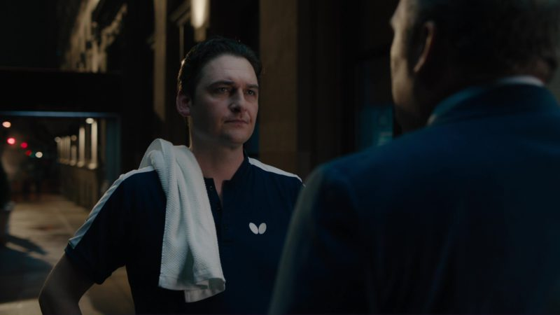 Butterfly Table Tennis Polo Shirt Worn by Toby Leonard Moore in Billions: Tie Goes to the Runner (2018) - TV Show Product Placement