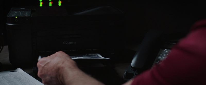 Canon Printer in Just Getting Started (2017) Movie Product Placement