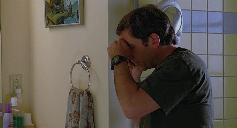 Casio G-Shock DW5600E Watch Worn by Steve Carell in The 40-Year-Old Virgin (2005) Movie Product Placement