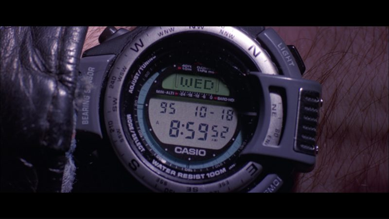 Casio Protrek ATC-1100 Watch Worn by Jonny Lee Miller in Hackers (1995) Movie Product Placement