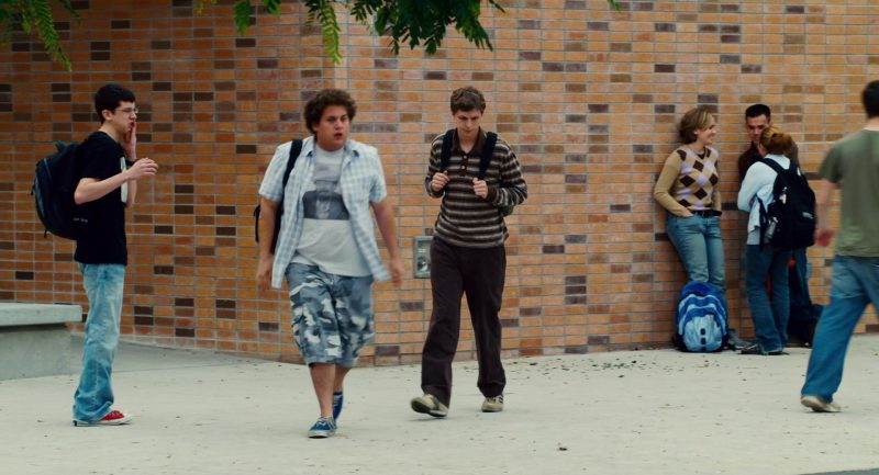 Champion Backpack Used by Christopher Mintz-Plasse in Superbad (2007) Movie Product Placement