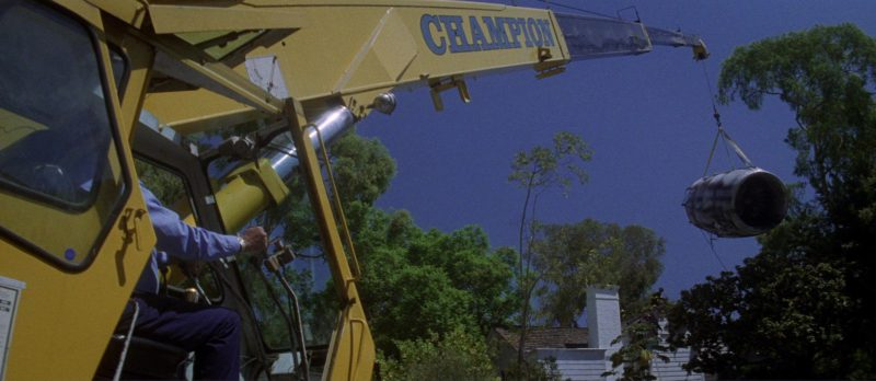 Champion Crane in Donnie Darko (2001) Movie Product Placement