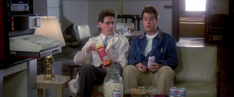 Cheez-It and Budweiser Beer in Ghostbusters (1984) Movie Product Placement