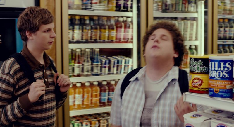Chock Full O' Nuts and Hills Bros. Coffee in Superbad (2007) Movie Product Placement