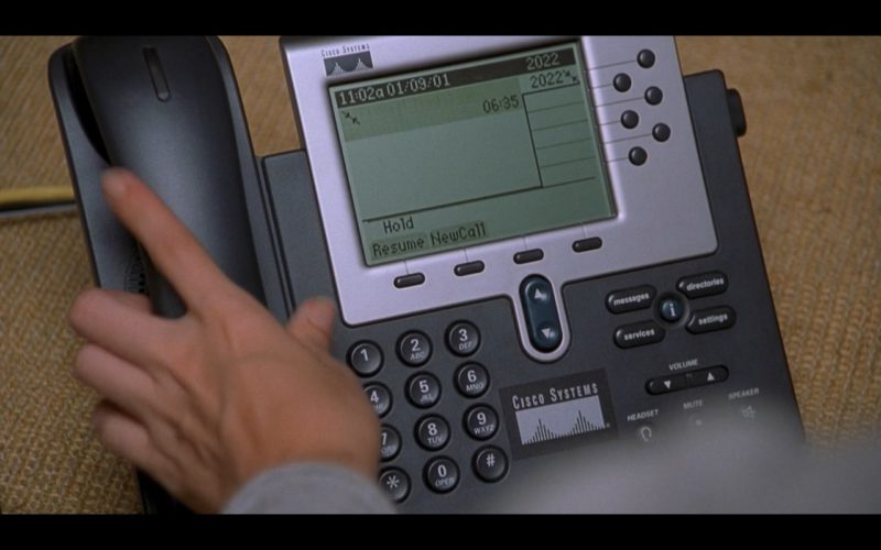 Cisco Telephone in Someone Like You… (2001) Movie Product Placement