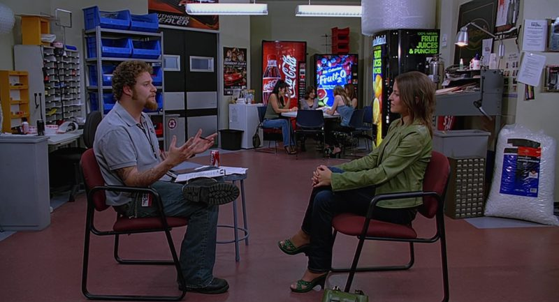 Coca-Cola, Fruit2O and Minute Maid Vending Machines in The 40-Year-Old Virgin (2005) Movie Product Placement