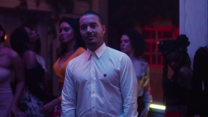 Comme des Garçons White Shirt Worn by J. Balvin in Ahora (2018) Latin Music Video Product Placement