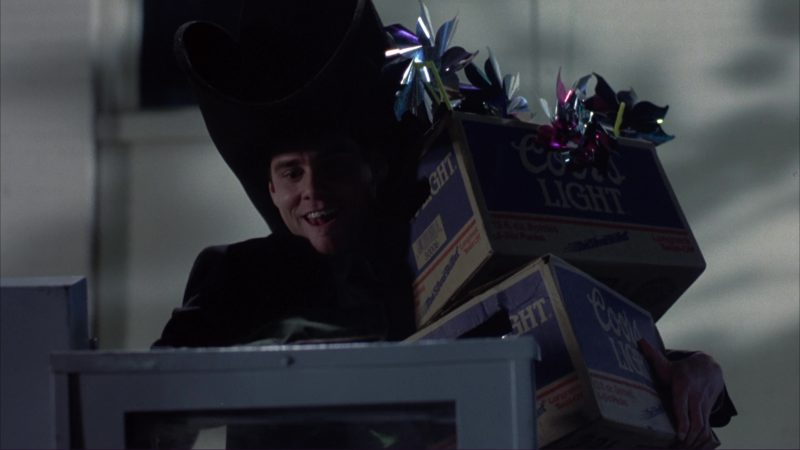 Coors Light Beer Packs (Boxes) and Jim Carrey in Dumb and Dumber (1994) Movie Product Placement