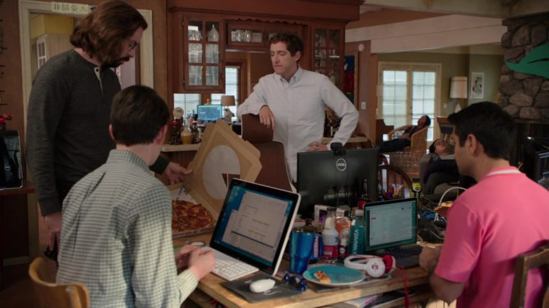 Dell Monitor, Macbook, Sony Vaio, Waiakea Water and Domino's Pizza in Silicon Valley: Grow Fast or Die Slow (2018) TV Show Product Placement