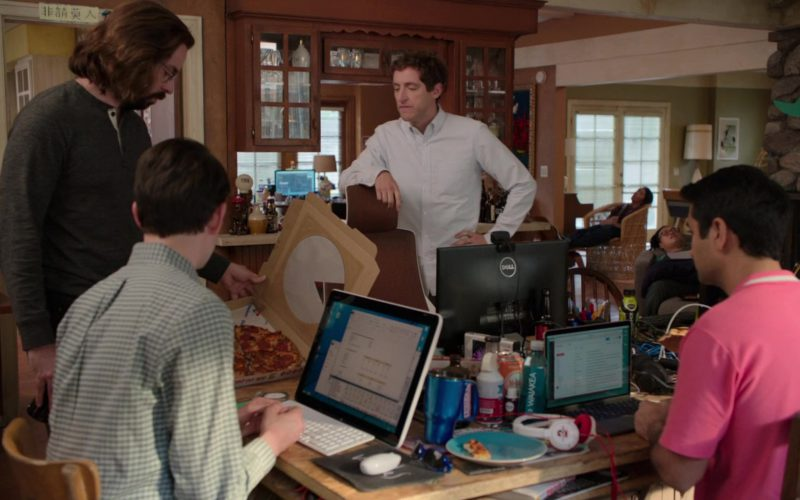 Dell Monitor, Macbook, Sony Vaio, Waiakea Water and Domino's Pizza in Silicon Valley