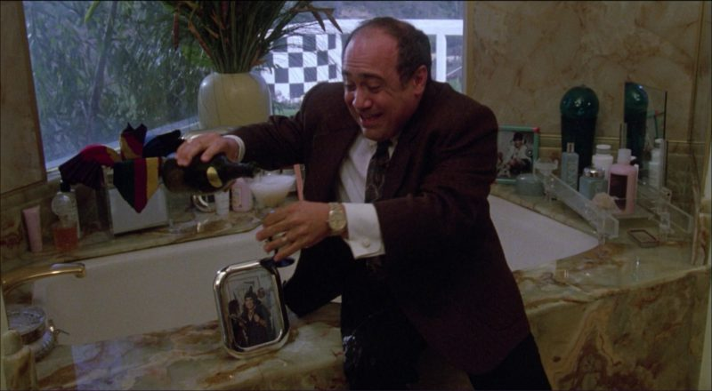 Dom Pérignon and Danny DeVito in Ruthless People (1986) Movie Product Placement