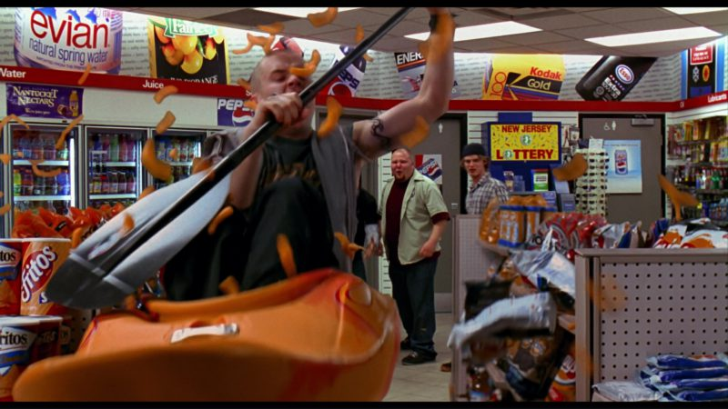 Evian, Coca-Cola, Pepsi, Kodak Gold, Esso, Fritos, Lay's in Harold & Kumar Go to White Castle (2004) - Movie Product Placement