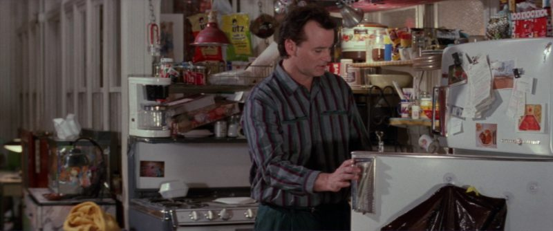 GE Refrigerator Used by Bill Murray and UTZ Chips in Ghostbusters 2 (1989) - Movie Product Placement