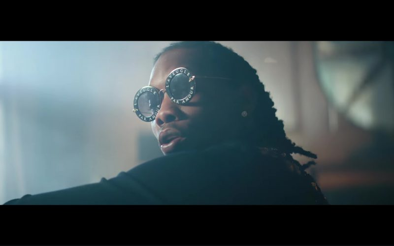 """28e55f0f23 Gucci Round Frame """"L Aveugle Par Amour"""" Sunglasses Worn by Offset in Ric  Flair Drip by 21 Savage"""